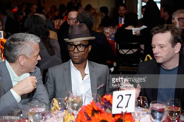 Billy Porter and Dallas Roberts attend The Trevor Project's 2013 'TrevorLIVE' Event Honoring Cindy Hensley McCain at Chelsea Piers on June 17 2013 in...
