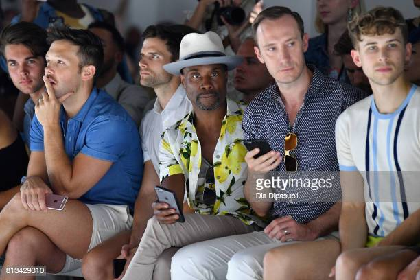 Billy Porter and Tommy Dorfman attend the Parke Ronen Spring 2018 show on July 12 2017 in New York City