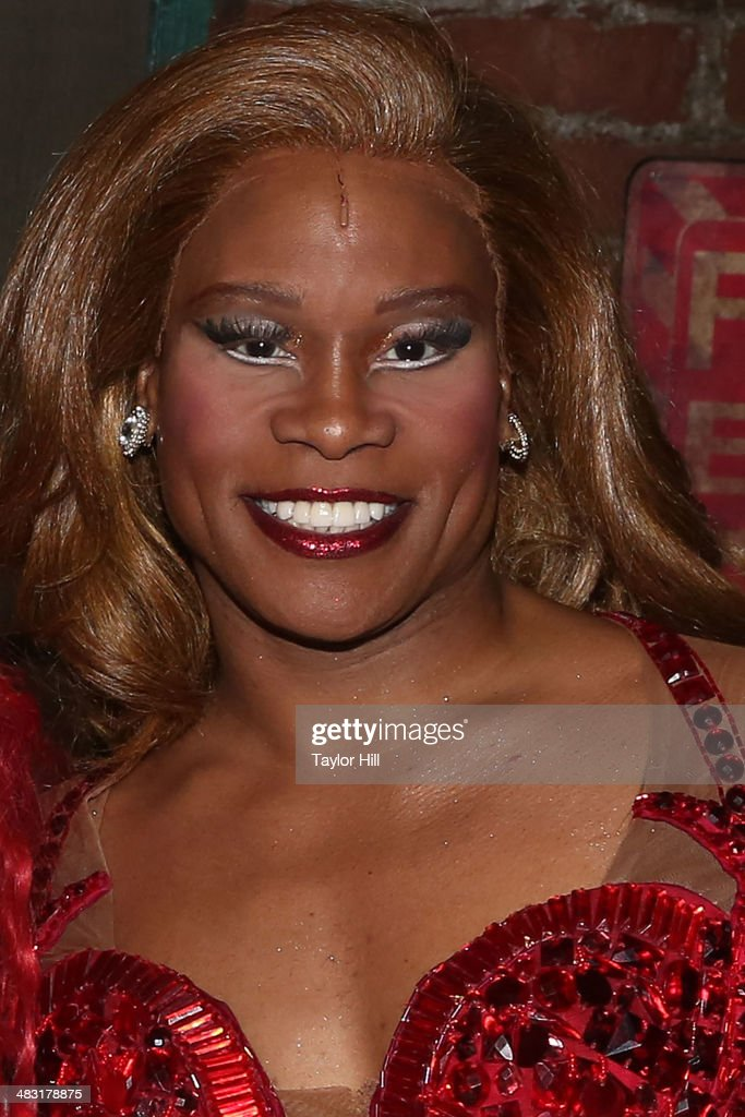 <a gi-track='captionPersonalityLinkClicked' href=/galleries/search?phrase=Billy+Porter&family=editorial&specificpeople=787592 ng-click='$event.stopPropagation()'>Billy Porter</a> attends 'Kinky Boots' one year anniversary on Broadway at The Hirshfeld Theatre on April 6, 2014 in New York City.