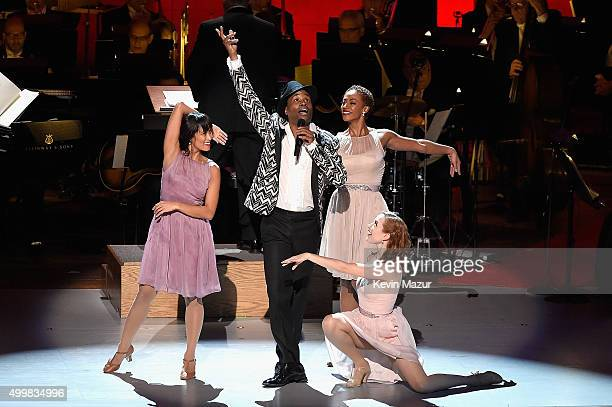 Billy Porter performs onstage during the Sinatra Gala with New York Philharmonic at Lincoln Center's David Geffen Hall on December 3 2015 in New York...