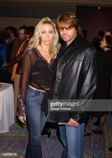 Billy Ray Cyrus and wife Leticia during 2003 18th Annual Gemini Awards Industry Party at Metro Toronto Convention Centre in Toronto Ontario Canada