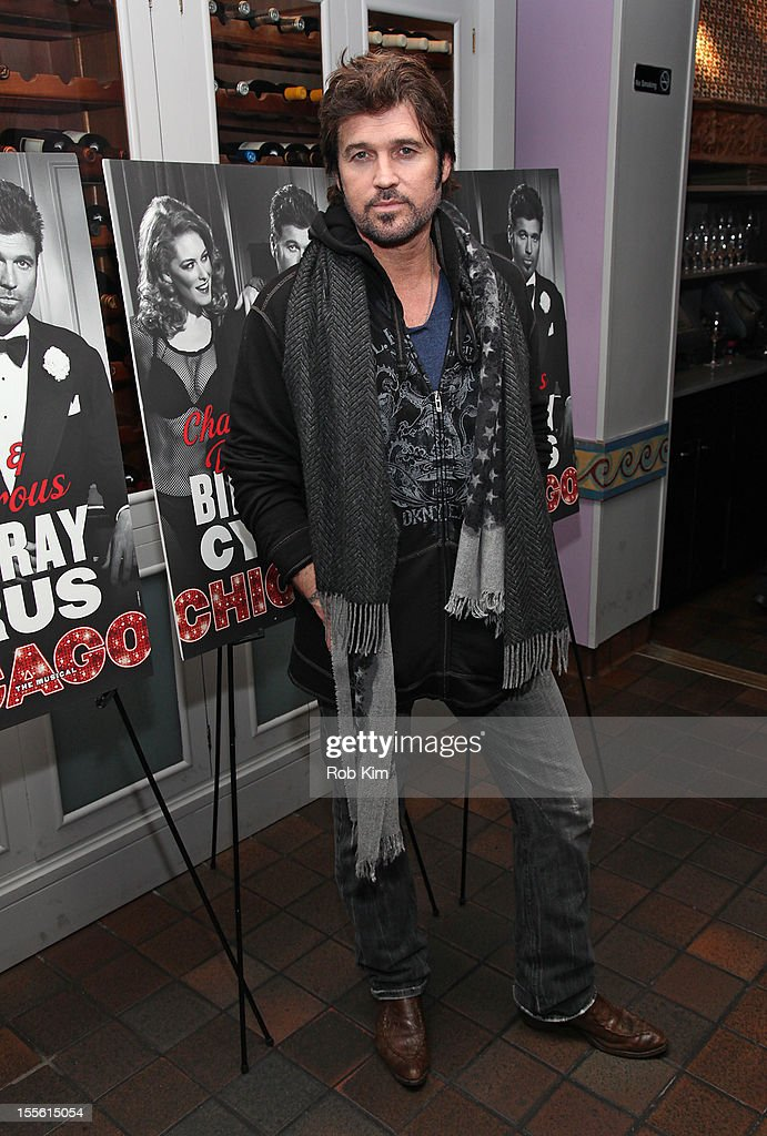 Billy Ray Cyrus attends opening night post-show celebration for Billy Ray Cyrus' Broadway stage debut as Billy Flynn in 'Chicago' at Victor's Cafe on November 5, 2012 in New York City.