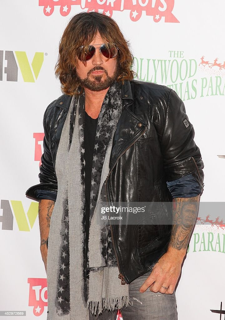 <a gi-track='captionPersonalityLinkClicked' href=/galleries/search?phrase=Billy+Ray+Cyrus&family=editorial&specificpeople=213601 ng-click='$event.stopPropagation()'>Billy Ray Cyrus</a> attends the Hollywood Christmas Parade benefiting Toys For Tots foundation on December 1, 2013 in Hollywood, California.