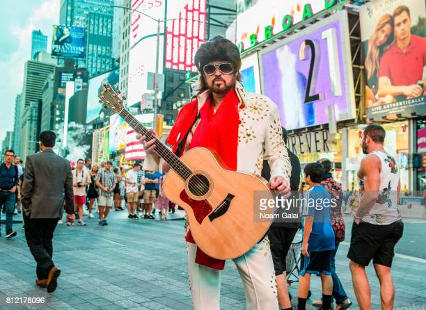 Billy Ray Cyrus performs as Burnin Vernon Brown in Times Square to promote the season two premiere of 'Still The King' airing July 11 at 10/9c on CMT...