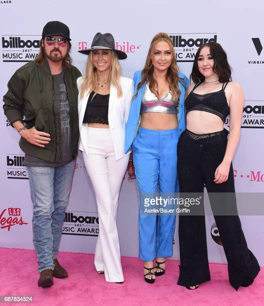Billy Ray Cyrus Tish Cyrus Brandi Cyrus and Noah Cyrus arrive at the 2017 Billboard Music Awards at TMobile Arena on May 21 2017 in Las Vegas Nevada