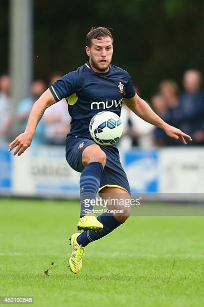 Billy Sahrp of Southampton runs with the ball during the pre season friendly match between EHC Hoensbroek and Southampton at Sportpark De Dem on July...
