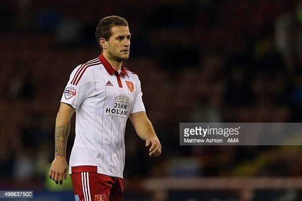 Billy Sharp of Sheffield United during the Sky Bet Football League One match between Sheffield United and Shrewsbury Town at Bramall Lane on November...