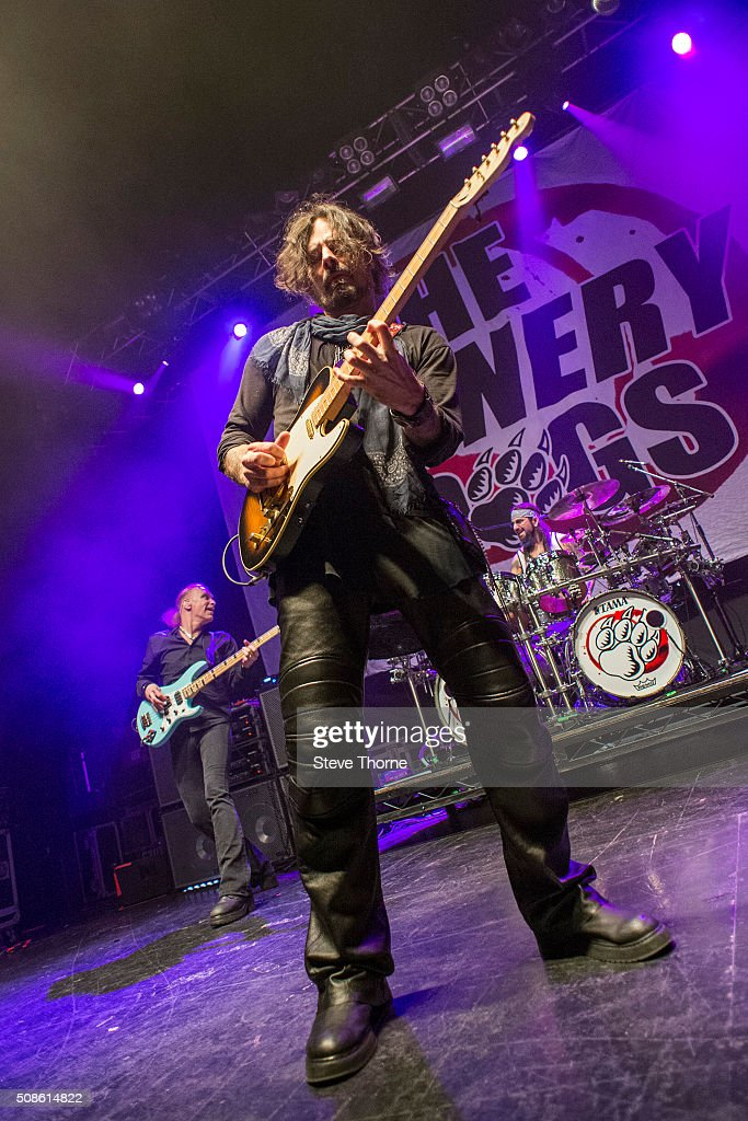 Billy Sheehan, Richie Kotzen and Mike Portnoy of Winery Dogs perform at The O2 Institute Birmingham on February 5, 2016 in Birmingham, England.