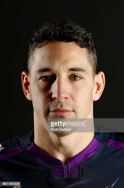 Billy Slater of the Storm poses for a portrait during a Melbourne Storm NRL training session at Gosch's Paddock on September 25 2017 in Melbourne...