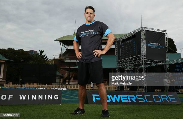 Billy Slater poses during the Powerade Powerscore Launch Event at North Sydney Oval on March 21 2017 in Sydney Australia