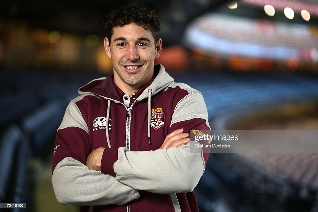 Billy Slater poses during the Queensland Maroons State of Origin team announcement at Melbourne Cricket Ground on June 9 2015 in Melbourne Australia