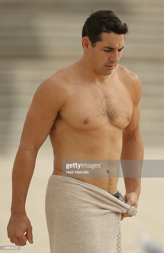 Billy Slater walks to the ocean during an Australian Kangaroos training session at Coogee Beach on April 15, 2013 in Sydney, Australia.