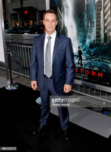 Billy Slaughter attends the premiere of Warner Bros Pictures 'Geostorm' at TCL Chinese Theatre on October 16 2017 in Hollywood California