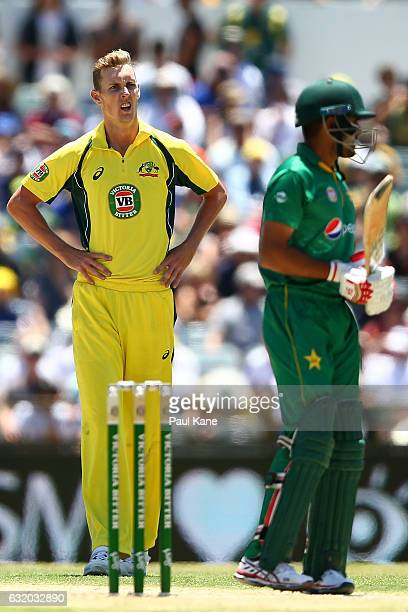 Billy Stanlake of Australia looks on during game three of the One Day International series between Australia and Pakistan at WACA on January 19 2017...