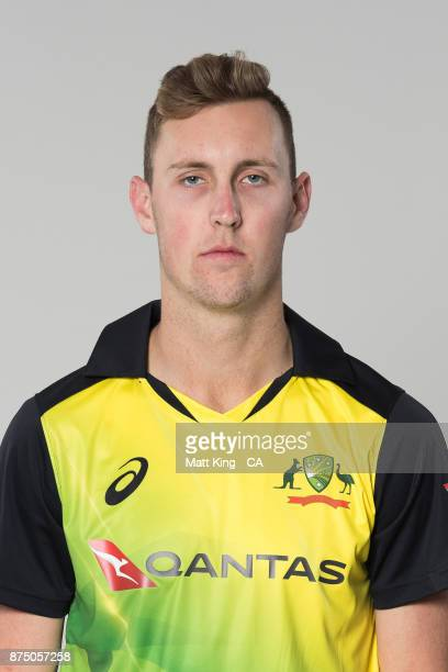 Billy Stanlake poses during the Australia Twenty20 Team Headshots Session at Intercontinental Double Bay on October 15 2017 in Sydney Australia