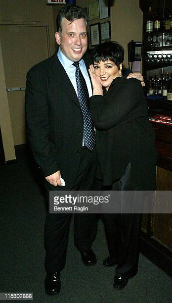 Billy Stritch and Liza Minnelli during Liza Minnelli Appearance At The Metropolitan Room June 1 2006 at The Metropolitan Room in New York New York...