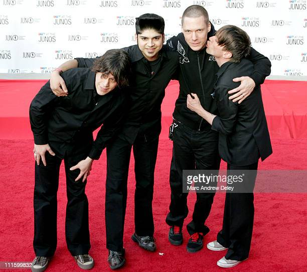 Billy Talent during 2005 Canadian Juno Awards Arrivals at MTS Centre in Winnipeg Manitoba Canada