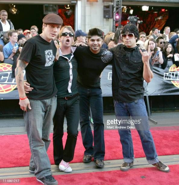 Billy Talent during 2005 MuchMusic Video Awards Red Carpet at CHUM CITY TV Building in Toronto Canada