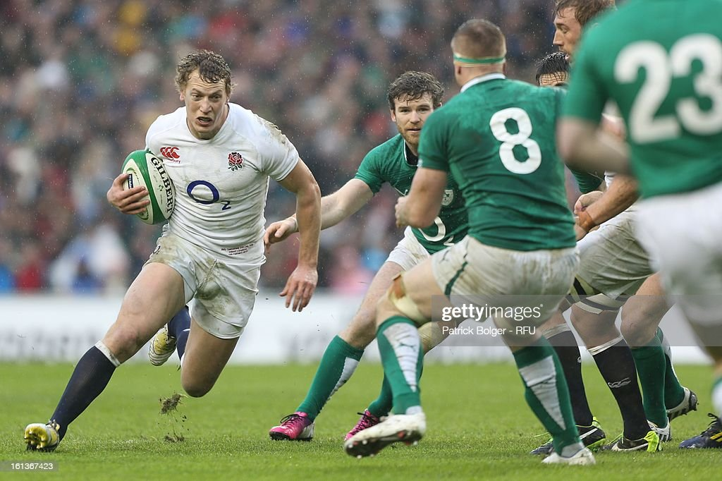<a gi-track='captionPersonalityLinkClicked' href=/galleries/search?phrase=Billy+Twelvetrees&family=editorial&specificpeople=6175351 ng-click='$event.stopPropagation()'>Billy Twelvetrees</a> in action during the RBS Six Nations match between Ireland and England at Aviva Stadium on February 10, 2013 in Dublin, Ireland.