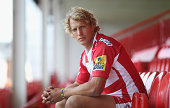 Billy Twelvetrees the Gloucester captain poses at the photocall held at Kingsholm Stadium on August 21 2014 in Gloucester England