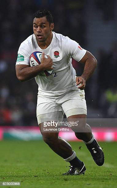 Billy Vunipola of England in action during the Old Mutual Wealth Series match between England and South Africa at Twickenham Stadium on November 12...
