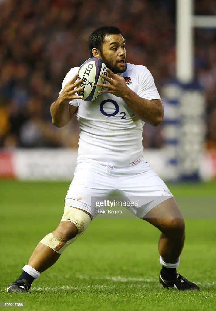 Billy Vunipola of England in action during the RBS Six Nations match between Scotland and England at Murrayfield Stadium on February 6 2016 in...