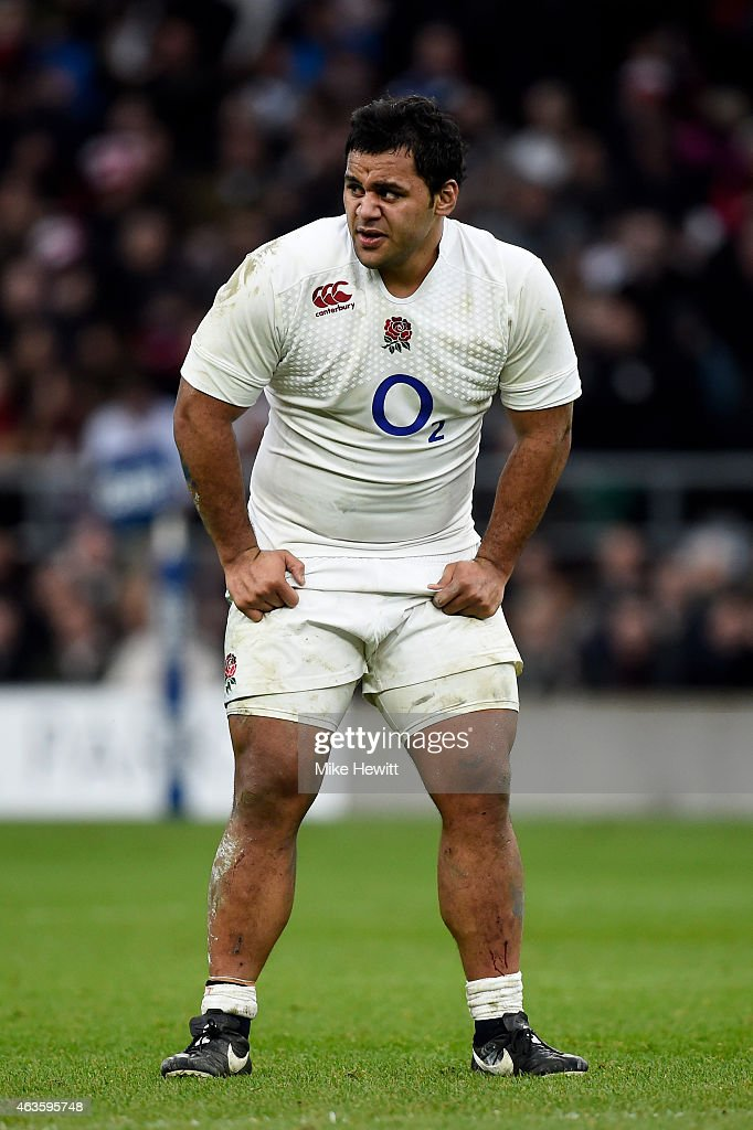 Billy Vunipola of England looks on during the RBS Six Nations match between England and Italy at Twickenham Stadium on February 14 2015 in London...