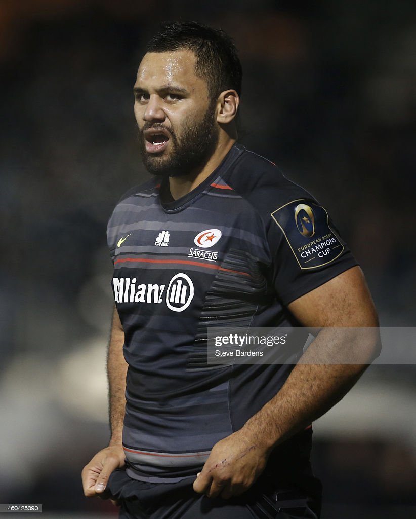 Billy Vunipola of Saracens during the European Rugby Champions Cup pool one match between Saracens and Sale Sharks at Allianz Park on December 13...