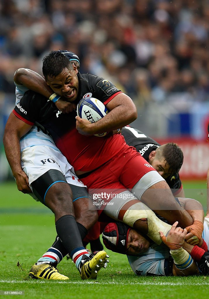 <a gi-track='captionPersonalityLinkClicked' href=/galleries/search?phrase=Billy+Vunipola&family=editorial&specificpeople=5771576 ng-click='$event.stopPropagation()'>Billy Vunipola</a> of Saracens makes a break during the European Rugby Champions Cup Final between Racing 92 and Saracens at Grand Stade de Lyon on May 14, 2016 in Lyon, France.