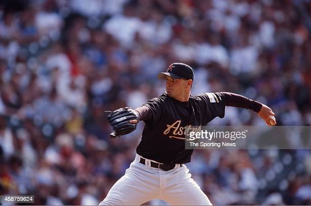 Billy Wagner of the Houston Astros pitches against the San Diego Padres on April 23 2000 in San Diego California