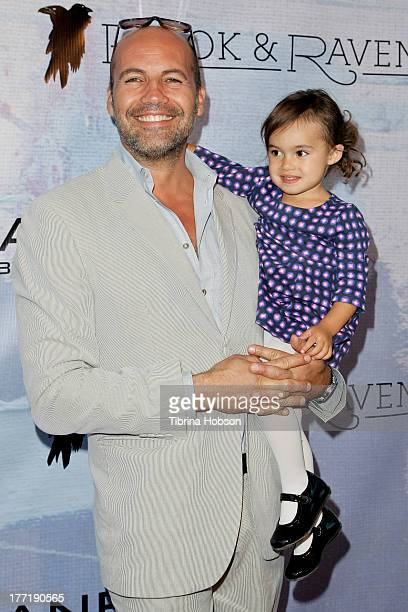 Billy Zane and daughter Eva Zane attend the artist's reception for Billy Zane's solo art exhibition 'Seize The Day Bed' on August 21 2013 in Los...
