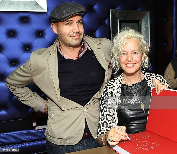 Billy Zane and Ellen Von Unwerth attend the book launch party for Ellen Von Unwerth's 'Fraulein' held at Taschen on October 21 2011 in Beverly Hills...