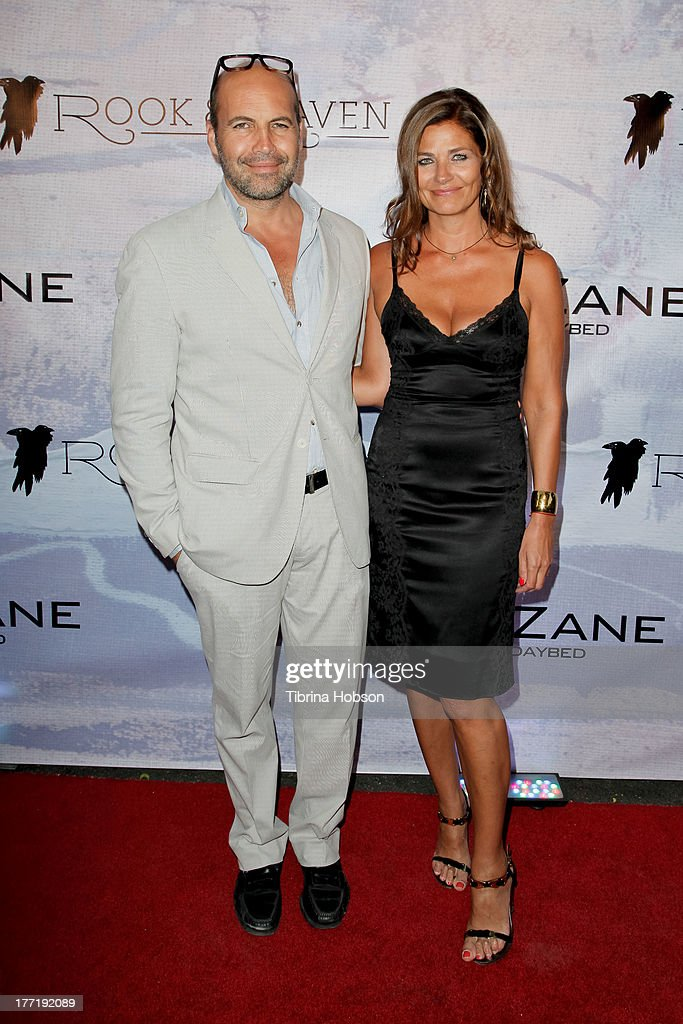 Billy Zane and Gulla Jonsdottir attend the artist's reception for Billy Zane's solo art exhibition 'Seize The Day Bed' on August 21, 2013 in Los Angeles, California.