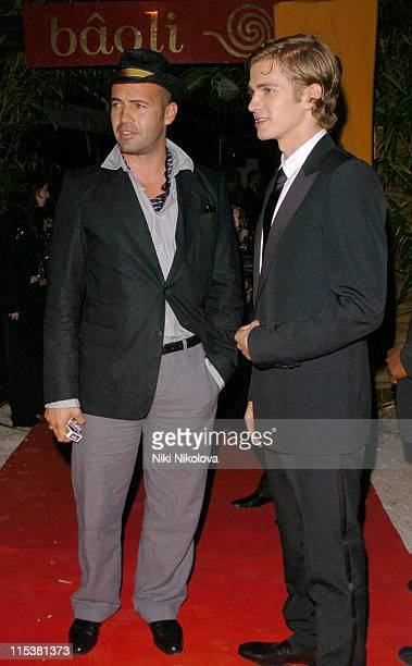 Billy Zane and Hayden Christensen during 2005 Cannes Film Festival Star Wars Afterparty in Cannes France