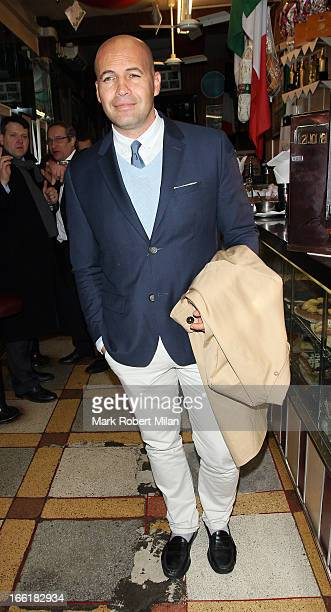 Billy Zane at Bar Italia Cafe on April 9 2013 in London England