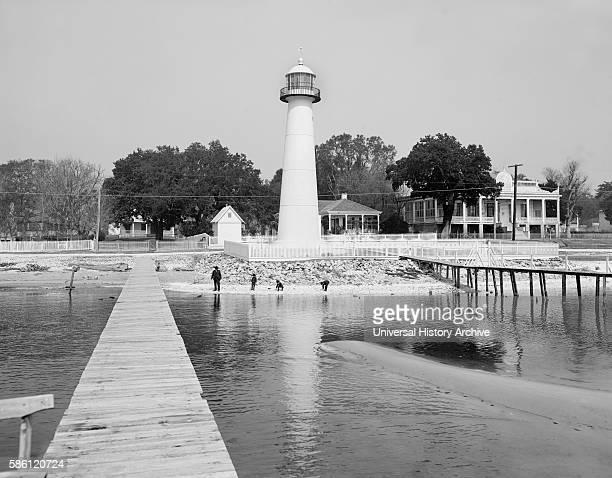 Biloxi Lighthouse Biloxi Mississippi USA circa 1906