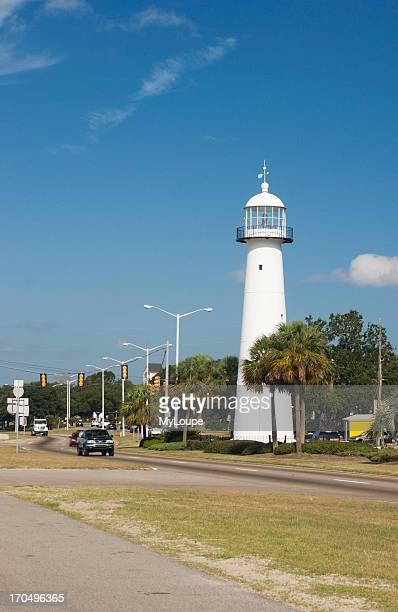 Biloxi Lighthouse Days Before Hurricane Katrina On Highway 90 Along The Gulf Coast At Biloxi Mississippi USA