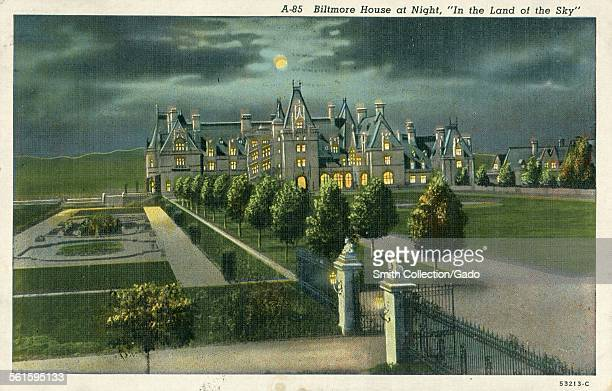 Biltmore House at Night in the Land of the Sky Asheville North Carolina 1941