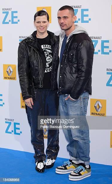 Bimba Bose and David Delfin attend Twizy Parade Renault presentation at El Matadero on November 24 2011 in Madrid Spain