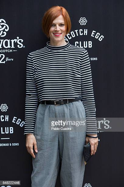 Bimba Bose attends the Dewar's Scotch Egg Club opening party at the Real Fabrica de Tapices on July 6 2016 in Madrid Spain