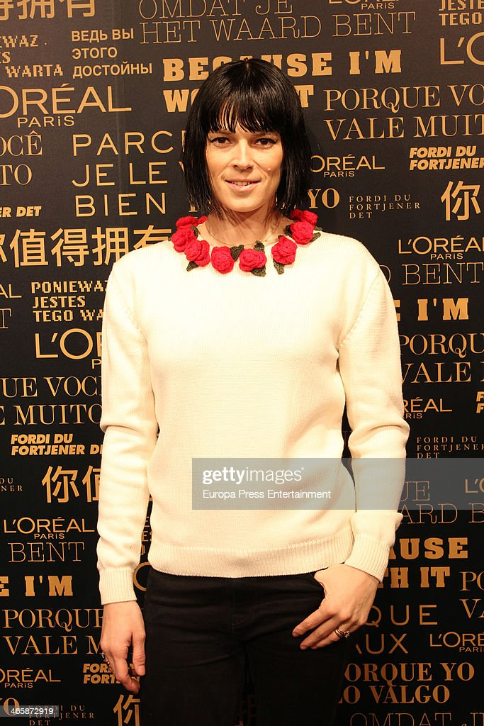 Bimba Bose attends the openig of L'Oreal Paris store on January 29 2014 in Madrid Spain
