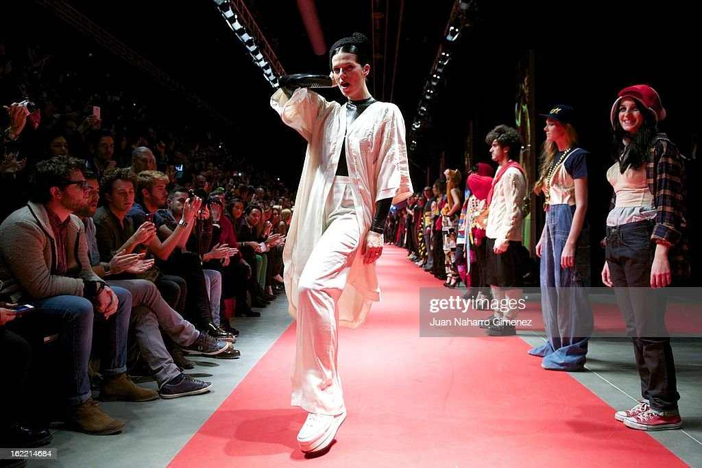 Bimba Bose on the runway at the Mahou Urban Collection show during Mercedes Benz Fashion Week Madrid Fall/Winter 2013/14 at Matadero on February 20, 2013 in Madrid, Spain.