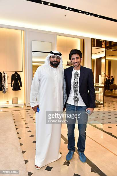 'DUBAI UNITED ARAB EMIRATES APRIL 12 Bin Baz at the Burberry Art of the Trench Middle East event at Mall of the Emirates on April 12 2016 in Dubai...