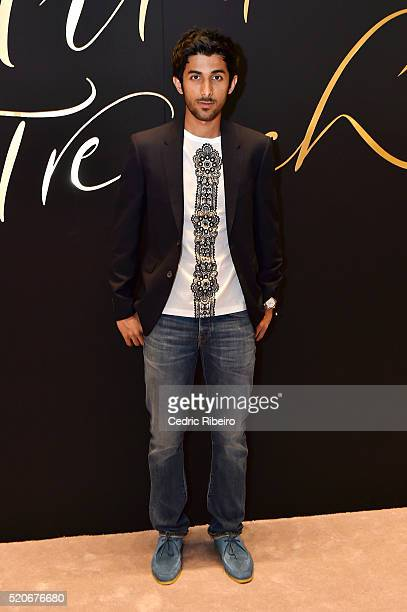 'DUBAI UNITED ARAB EMIRATES APRIL 12 Bin Baz attends the Burberry Art of the Trench Middle East event at Mall of the Emirates on April 12 2016 in...