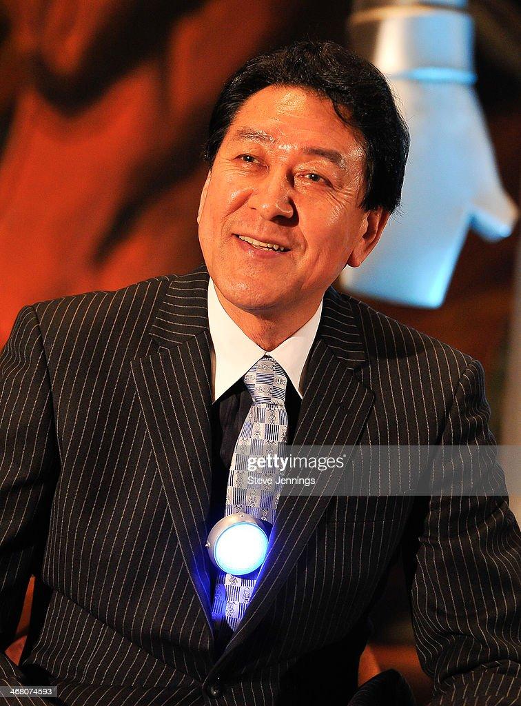 Bin Furuya (the original Ultraman) speaks on the panel 'There Goes Tokyo!' at Kirk Von Hammett's Fear FestEvil at Grand Regency Ballroom on February 8, 2014 in San Francisco, California.