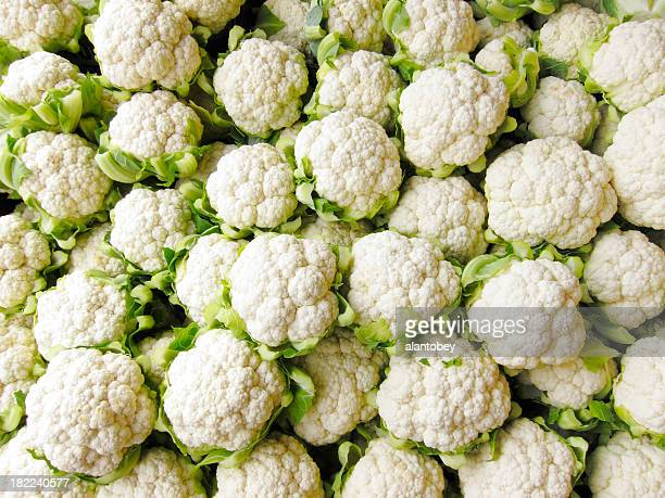 Bin of Cauliflower Heads
