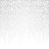 Binary code on a white background. binary algorithm, encryption, encoding matrix.