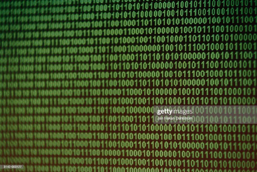 Binary Digits on Screen
