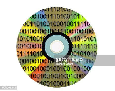 Binary DVD : Foto de stock