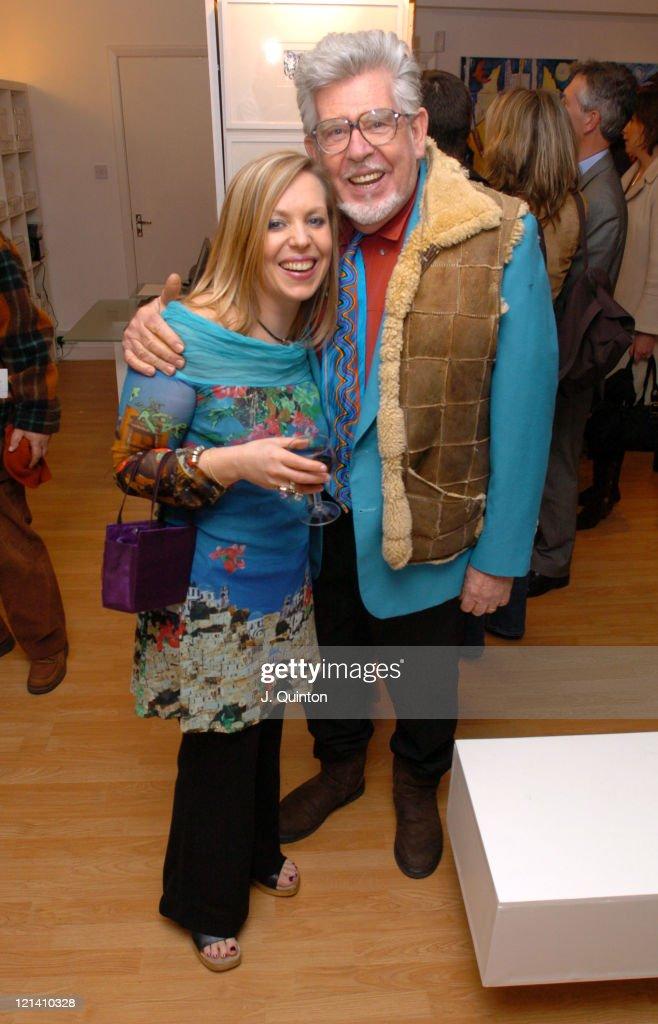 Bindi Harris and Rolf Harris during Bindi Harris Exhibition Launch at Lang Gallery in London Great Britain